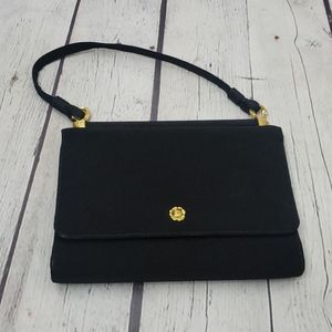 Vintage HL Harry Levine Black Gold Evening Purse